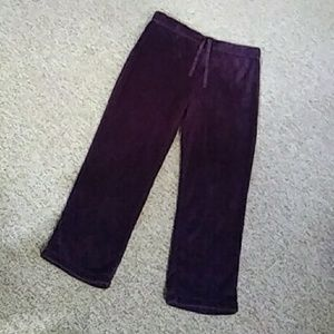 Purple fuzzy lounge pants